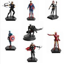 20cm The Avengers figures super hero toy doll baby Black Widow Eagle Eye hulk Captain America superman batman thor Iron man