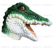 hot selling popular latex crocodile Mask for Halloweenor Masquerade or cosplay(China)