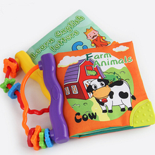 Soft Cloth Baby Boys Girls Books Rustle BB Sound Infant Educational Stroller Rattle Toys For Newborn Baby 0-12 Months(China)