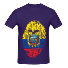 RTTMALL Funny Leisure Summer Men t shirts Super Deigner Counrty Team Tees Cotton ecuador Fingerprint flag Mans Fans Hot T-shirt(China)