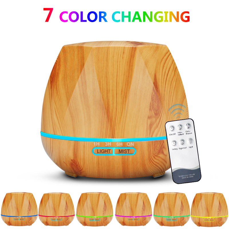 Air Humidifier Essential Oil Diffuser 500ML 12