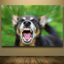 Pop Art Hot Sell Painting Dog Barking Painting Printed On Canvas Crazy Animal Paintings For Living Room Home Decoration