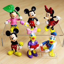 Mickey Mouse Minnie Mouse Donald Duck Figures Disney Cartoon Action Figure PVC Figurines Brinquedos Toy Dolls  Kids Great Gift