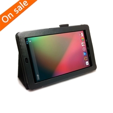Leather Case Folio Stand Cover for Google Nexus 7 1st Gen 7 inch Tablet Black