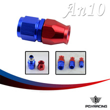PQY RACING- High Quality PTEF AN10 AN-10 Straight REUSABLE SWIVEL TEFLON HOSE END FITTING AN10 PQY-SL6000-10-311