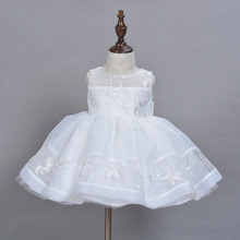 2016 New Baby Girl Dress High Quality Baby Girls Elegant Communion Dresses With Hat Elegant Baptism Dresses for 1 year girl baby(China)
