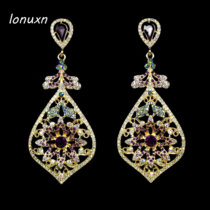 major suit baroque palace catwalk sector Royal palace retro dinner party queen purple big statement Earrings girls lovers gift