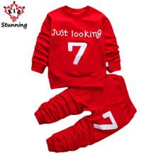 12M-6T Casual Boys Girls Clothing Sets 2017 New Tracksuit for Girls Long Sleeve Boys Clothes Sets Fashion Kids Clothes Costume
