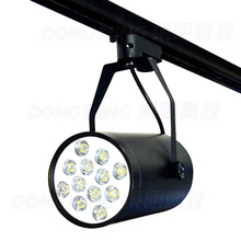 LED Track Light Dimmable white/Warm White 85-265V AC Input CE RoHS Certificate Energy Saving Rail Lights 12W(China)