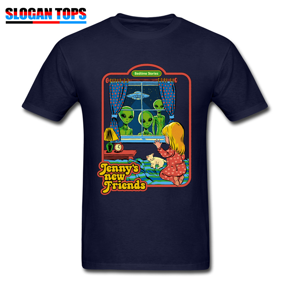 Jennys-New-Friends 100% Cotton Funny T Shirt Rife Short Sleeve Mens Tshirts Casual NEW YEAR DAY T-shirts Crew Neck Jennys-New-Friends navy