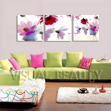FREE SHIPPING Well -designed Modern Paintings Sale Flower Canvas Arts Art Painting(Unframed)50x50cmx3pcs(China)