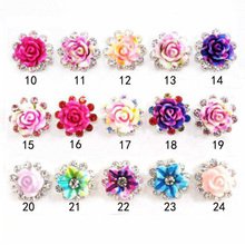 10 Pcs latest 3D nail art alloy natural Artificial spray color Ink dyeing flower charms DIY Manicure nail Accessories(China)