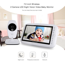 Infrared 7.0 inch Infant Wireless Monitor LCD Night Vision Temperature Detection Dispaly Video Baby Nanny Monitor IP Camera