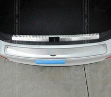 FIT FOR 2013 2014 Skoda Octavia A7 REAR BUMPER PROTECTOR STEP PANEL BOOT COVER SILL PLATE TRUNK TRIM ACCESSORIES