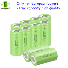 True capacity only for global! 10 pcs SC rechargeable battery SUBC batteria power bank 1.2v 1800mah nicd accumulator