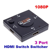 Premium Version 1080P mini HDMI Switch Switcher Splitter For HDTV HD DVD for PS3/ Xbox 360