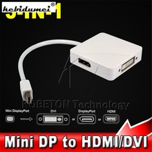 New 3 in 1  Mini DP Displayport to HDMI DVI Converter Adapter Cable for MacBook Pro