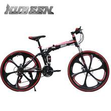 KUBEEN-BEGASSO  Folding Mountain  Bicycle mountain bike 21speed  26inch variable speed soft-tail Frame bike dual disc brakes