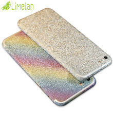 Fashion Luxury Glitter Shiny Full Phone Skin Sticker for iphone 5 5S SE 6 6s Plus 7 7Plus Matte Sparkling Films protector Case
