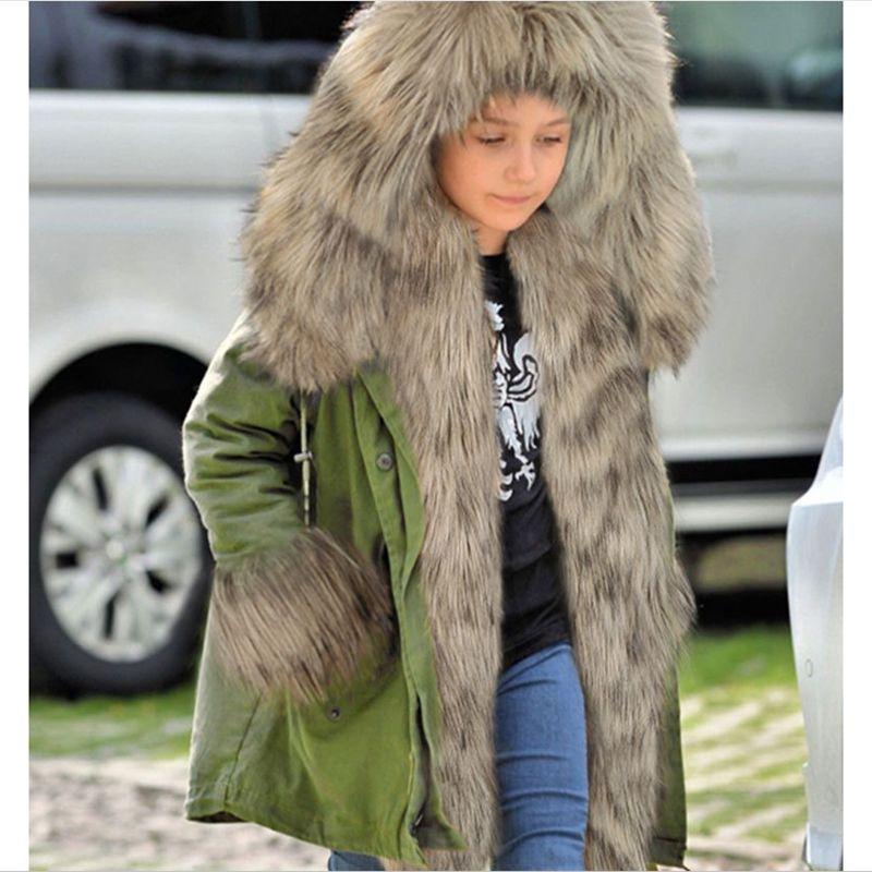 New Fashion Winter Boy Girls Coat Thicken Children Heavy Hair Collar Cotton-Padded Clothes European Style Kids Overcoat HL0794Одежда и ак�е��уары<br><br><br>Aliexpress