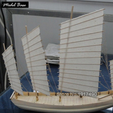 Ship Model Kit Educational Games For Children Assembling Wooden Ship Models Hobby 3d Laser Cut Scale 1/80 Chinese Sailing Junks(China)