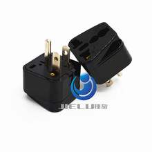 2016 Universal Type B 3 Pin Grounded AC Plug Travel Adapter Outlet for USA US Japan Thailand, Canada us to eu ac power plug(China)