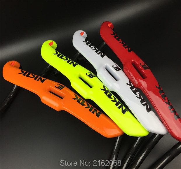 Newest white green red orange colors Road bike racing full carbon fibre bicycle handlebar 31.8*400/420/440mm parts Free Shipping<br>