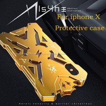 Zimon Original Design Armor For iPhone X Luxury Aluminum Metal protection case for iPhone X/10 shockproof anti-scratch(China)