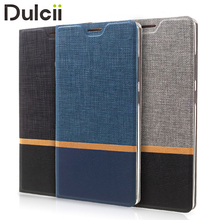 DULCII for Huawei Honor 6c Leather Cases Cross Pattern Bi-color Card Slot Leather Phone Cover Casing for Huawei Honor 6 c Shells(China)