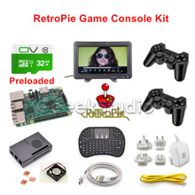 Raspberry Pi 3 Model B 32GB RetroPie Game Kit with Wireless Controller Gamepad Joystick and 10.1 inch 1366*768 LCD Monitor(China)