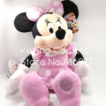 45cm Original Big Pink Minnie Mouse Stuffed Animals Plush Toy Doll Gift for Baby Girl Birthday Gift