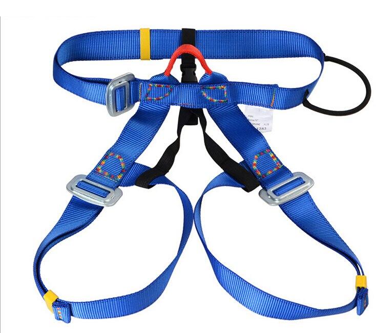 Outdoor climbing safety harness climbing rappelling belt bust safety belt waist use safety belts blue GM1412<br>