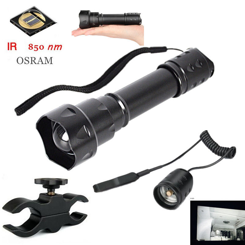 2017 New T20 Osram SFH4715s 38mm IR 850nm Zoomable 1 Mode Night Vision Infrared LED Flashlight<br>