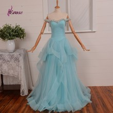 New Coming Beaded Sweetheart Evening Dress Long Fancy Light Blue Party Gowns Dress For Women Special Occasion Wear CFYE220