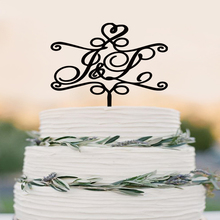 Wedding Cake Topper - Personalized Monogram Cake Topper - Mr and Mrs - Cake Decor - Bride and Groom