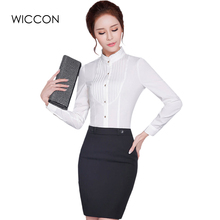 woman Tops And White Blouse Office Ladies Tops elegant Shirt long sleeve bottoming Clothes Business blouse stand collar Blusas