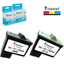 High Quality Refillable inkjet printer Ink Cartridge for Dell T0529 T0530 use for Dell printers A720 All-In-One A920... (1Pair)(China)