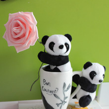 2pcs/Set Adorable Panda Plush toy Clip Stuffed Animal Cartoon Clip Holder Home Car Decoration Small gift(China)