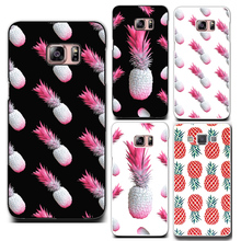 Hot sell pink pineapple phone hard plastic case cover For Samsun Galaxy s4 s5 Mini s6 s6Edge  A 3 5 7 Note  3 4 5