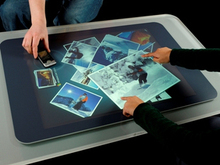 By placing a rear projection foil or LCD display behind it, 42 inches USB touch screen film for glass