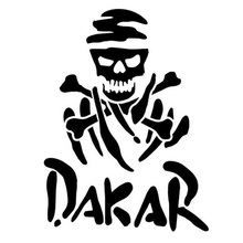 12.5*10CM DAKAR Rally Racing Fun Car Sticker Decal Motorcycle Car Styling Black/Silver C1-0067
