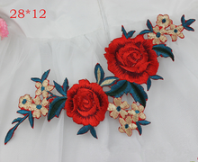 2 PCS Flower Vintage Style Heat Transfer Appliques A-level Washable Super Quality Iron On Patches For Clothing T-shirts