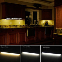 LED Kitchen Lights 5V USB Rigid LED Strip Light Dimmable Aluminum Bar Lamp for Under Cabinet Lighting Warm Cool White(China)