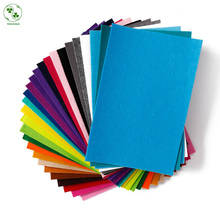 2MM Thick Felt Fabric Polyester 20CMX30CM Non-woven DIY Felt Cloth Sewing Home Decor Material Feltro 14pieces/Lot(China)