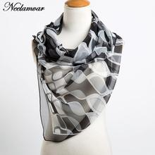 fashion georgette silk feeling irregular plaid thin scarf New 2017 women Autumn Winter upscale shawls and scarves wholesale