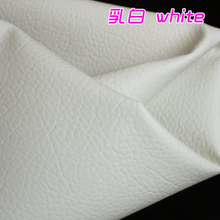 "White Big Lychee Pattern PU Synthetic Leather Faux Leather Fabric Upholstery Car Interior Sofa Cover  54"" Wide Per yard"