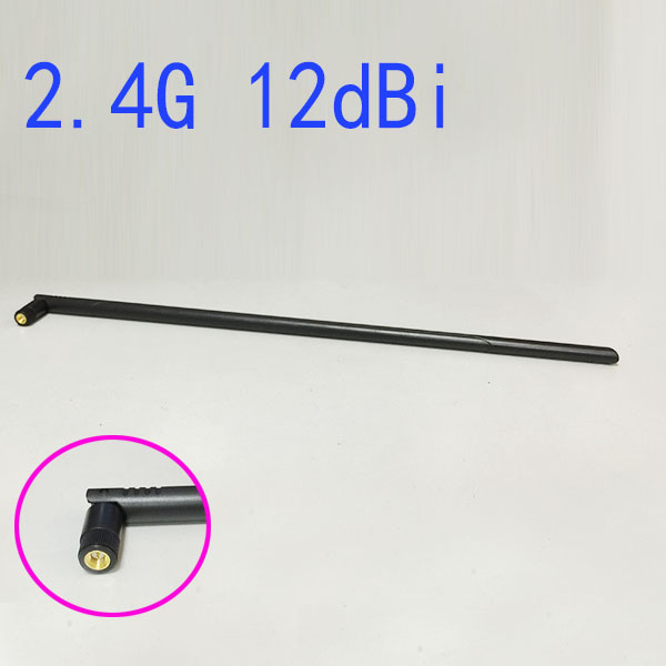 WIFI Antenna 2.4 GHz 12dBi high gain SMA Male floding Omni  aerial for wireless Router Card 45CM long<br><br>Aliexpress