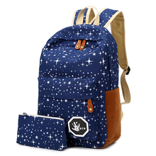 2016 Hot Sale Canvas Women backpack Big Capacity School Bags For Teenagers Printing Backpacks For Girls Mochila Escolar APB02(China)