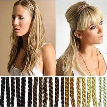 2pcs Wholesale Synthetic Hair Plaited Plait Elastic Headband Hairband Braided Band Hair Accessories A1