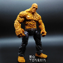Fantastic Four Knight Ultimate Stonema Thing :Human Torch Doll Handmade Toy Model MARVEL T21(China)